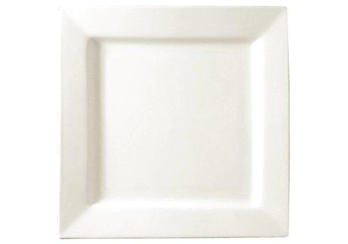HorecaTraders vierkant wit bord 17 cm (stuks 6)