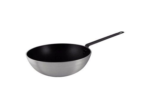 Vogue wok Platte bodem | 30 cm Ø