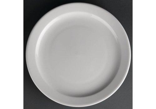 Athena Porzellanteller mit schmalem Rand | 25 cm (12 Stück)