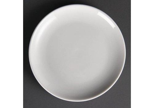 Olympia Weiße Porzellanteller rund 20 cm (12 Stück)