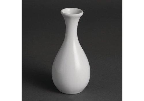 Olympia Weißes Porzellan Tabelle Vase 13cm | 12 Stück