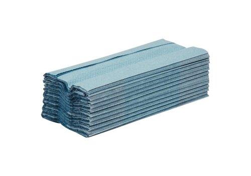 Jantex Dispenser papier handdoeken blauw 1 laags