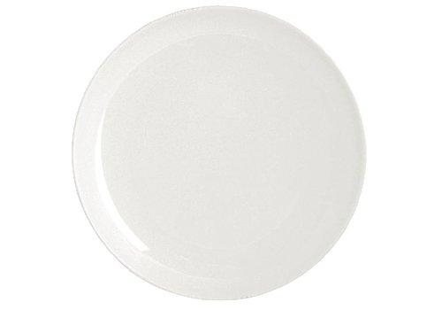 HorecaTraders Weiße Porzellanteller rund 26 cm (4 Stück)