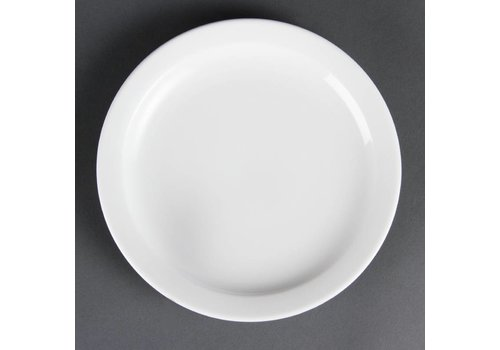Olympia Kleine porselein bordjes met smalle rand 20 cm (stuks 12)