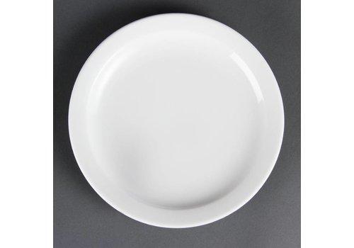 Olympia Kleine Porzellanteller mit schmalem Rand 20 cm (12 Stück)