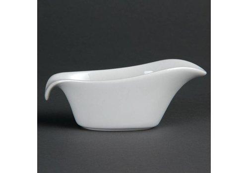 Olympia Sauce Schalen Porzellan weiß 9Cl | 6 Stück