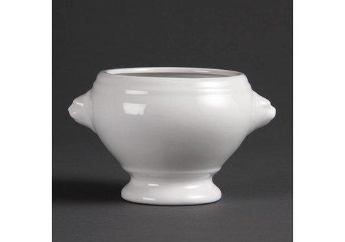 Olympia Weißes Porzellan Suppenschüssel 10,5 cm | 6 Stück