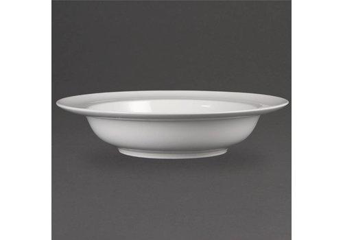Olympia Luxe porselein eet borden met brede rand (4 stuks)