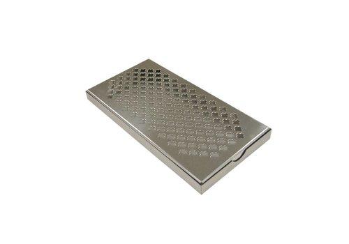 HorecaTraders Stainless steel drip tray   30x15x2 cm