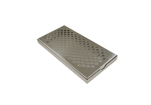 HorecaTraders Stainless steel drip tray | 30x15x2 cm