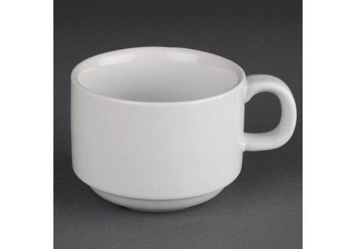 Athena Weiße Porzellankaffeetasse | 20cl (24 Stück)