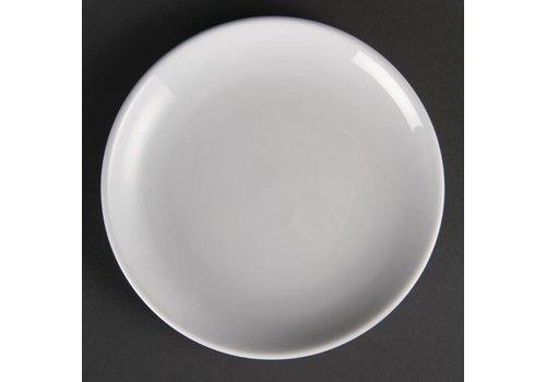 Olympia Weiße Porzellan Ronden 18 cm (12 Stück)