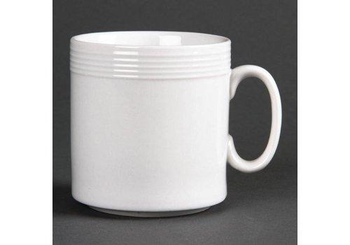 Olympia Große Porzellan-Becher 22 cl (12 Stück)