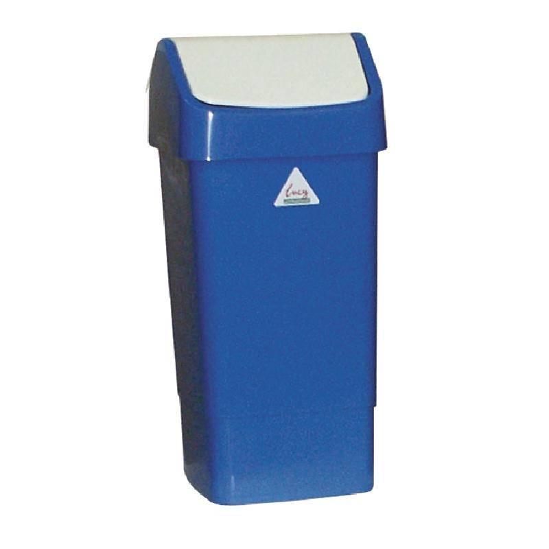 Afvalbak Keuken 50 Liter : horecatraders blauw afvalbak met schommeldeksel 50 liter beoordelen 50