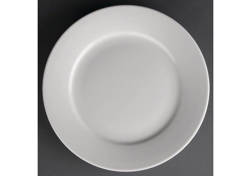 Athena White porcelain plate with wide edge | 23 cm (piece 12)