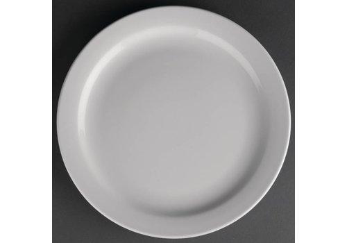 Athena Porselein bord met smalle rand | 23 cm (stuks 12)