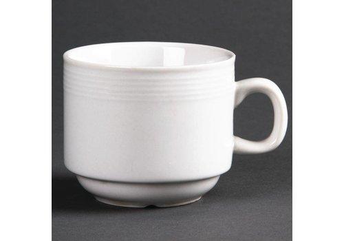 Olympia Weißes Porzellan Tee-Tasse 20 cl (12 Stück)