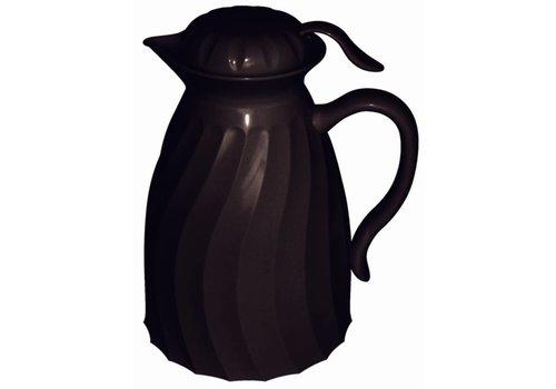 HorecaTraders Isoleerkan Kunststof Zwart | 2 Liter