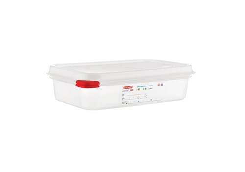Araven Food Boxes GN 1/4 with cover | 1.8 liter