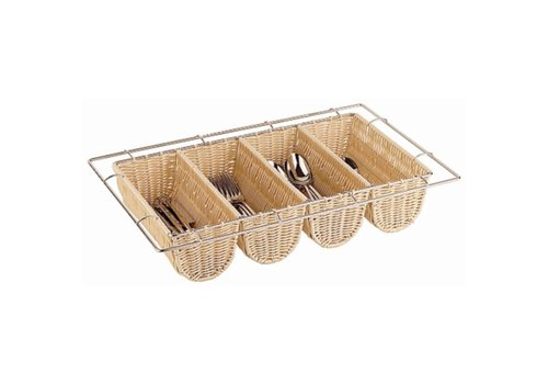 HorecaTraders Wicker Plastic Cutlery