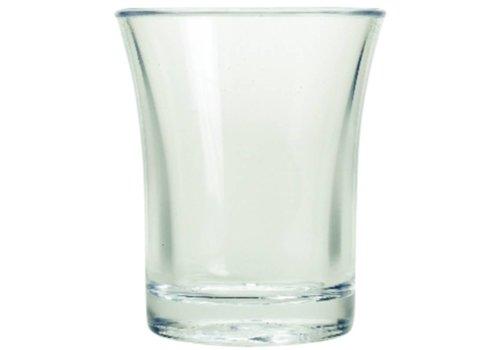 HorecaTraders Polystyrol Schnapsglas 2,5 cl (100 Stück)