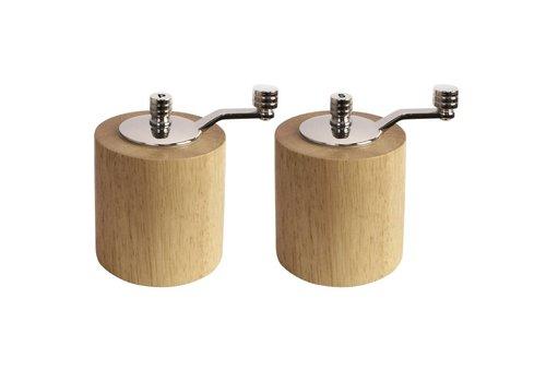 HorecaTraders Bamboo molen set | 8,5 cm