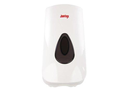 Jantex Kunstof zeepdispenser wit