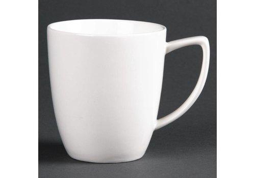 HorecaTraders Weißen Porzellanbecher | 28 cl (6 Einheiten)