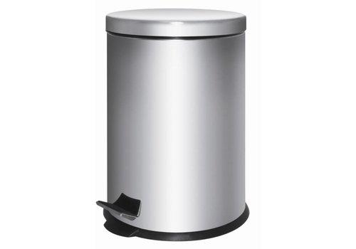 HorecaTraders RVS afvalbak met pedaal | 5 L