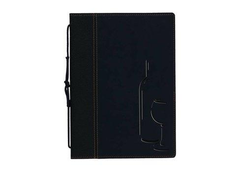 Securit Elegant black Wijnkaartmap | 8 Silk