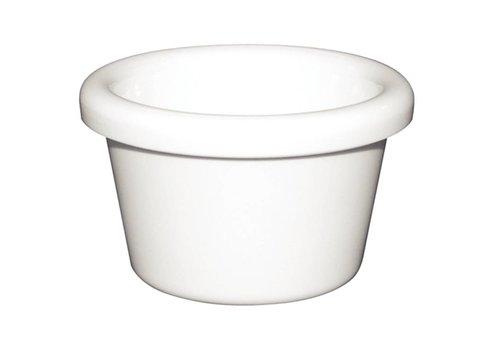 HorecaTraders Witte Melamine Ramekin 4,3cl | 2 Kleuren