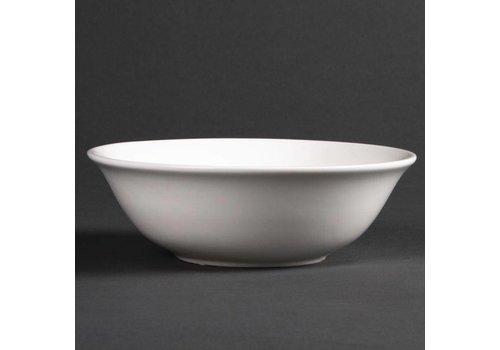HorecaTraders Weißes Porzellan Dessertteller | 16 cm (6 Stück)