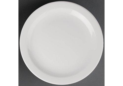 Athena Porselein bord met smalle rand | 28 cm (stuks 6)