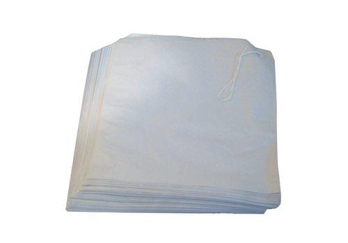HorecaTraders Witte papieren zakjes 17,5cm x 17,5cm (1000 stuks)
