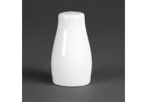 Olympia Pfefferstreuer Weißes Porzellan 9cm | 12 Stück