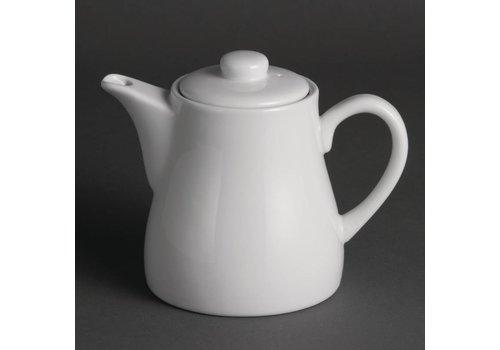 Olympia Weißes Porzellan Teekanne 50 cl (4 Stück)