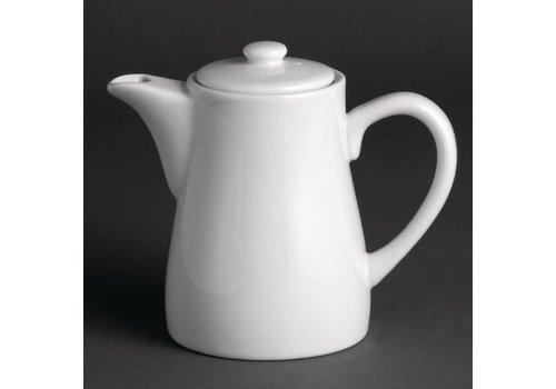 Olympia Coffeepot weißes Porzellan 30 cl. (4 Stück)