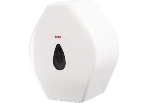 Jantex Jumbo toiletrol dispenser kunstof wit