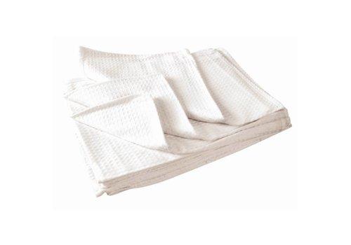 Vogue Tea towel honeycomb white 75x50cm (box 10)
