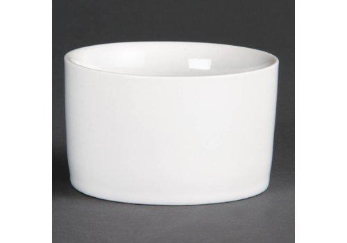Olympia Porzellan-weiße runde Schüssel | 12 Stück
