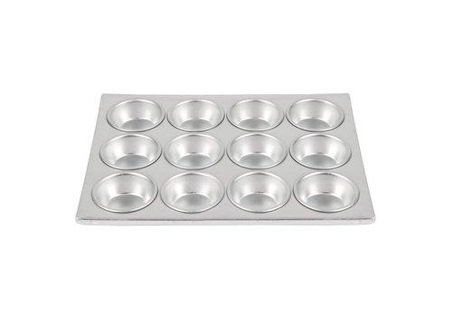 HorecaTraders Horeaca Aluminium Muffinzinn | 12 Muffins