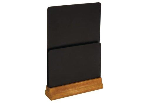 Olympia Double blackboard Menu Holder