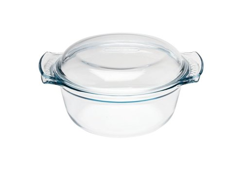 Pyrex Ronde glazen casserole schaal, 2,5 l