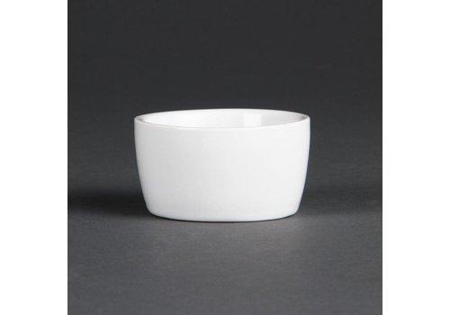 Olympia Porzellan Butterdose Weiß | 12 Stück