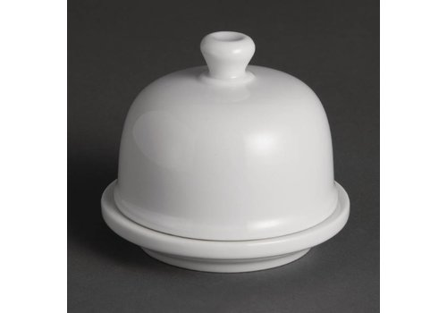 Olympia Butter Schüssel mit Deckel Porzellan | 6 Stück
