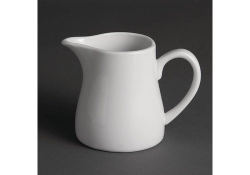 Olympia Witte porselein melkkan 30 cl (Stuks 6)