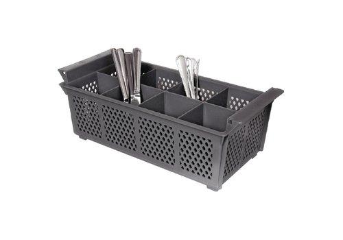 HorecaTraders Solid Cutlery 8 compartments | 21x15,5cm
