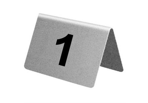 HorecaTraders RVS Tafelnummers 1 t/m 40 | 10 stuks