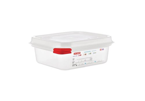 Araven Food boxes 1/6 GN with lid (4 pieces) | 3 formats