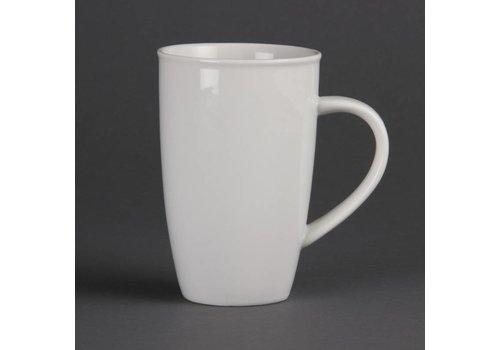 Olympia Grote porselein melk beker. (stuks 6)